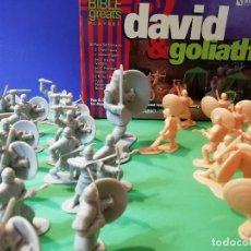 Figuras de Goma y PVC: MUY RAROS GUERREROS HEBREOS Y FILISTEOS. DAVID Y GOLIATH.. Lote 176024468