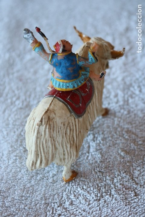 Figuras de Goma y PVC: SING LI MONTADO EN YAK - ESTEREOPLAST - COSACO VERDE - Foto 2 - 176060193