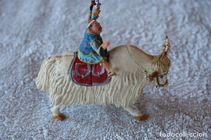 Figuras de Goma y PVC: SING LI MONTADO EN YAK - ESTEREOPLAST - COSACO VERDE - Foto 4 - 176060193