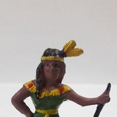 Figuras de Borracha e PVC: INDIA PREPARANDO LA COMIDA . REALIZADA POR CAPELL . AÑOS 50 EN GOMA. Lote 176067670