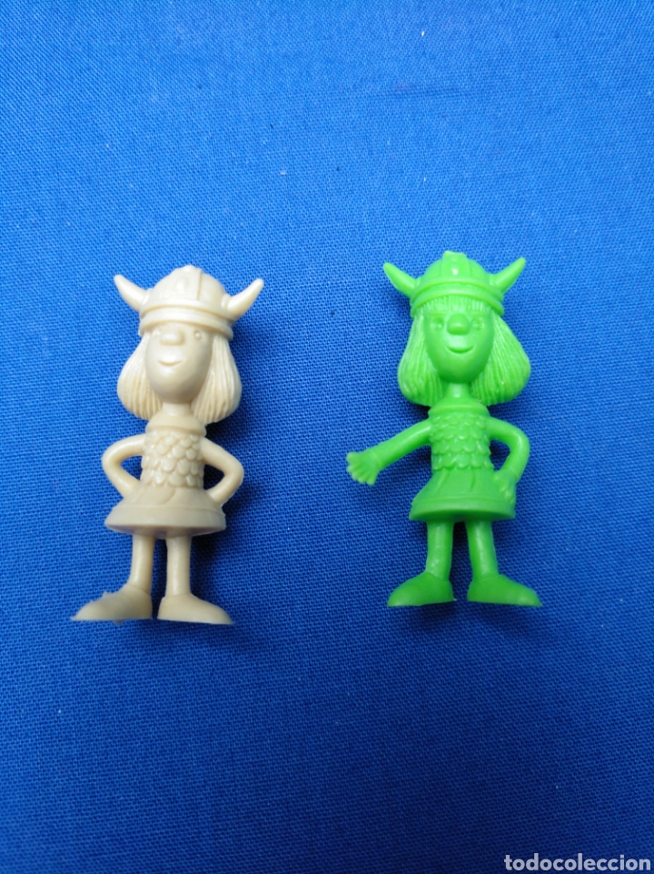 Figuras de Goma y PVC: LOTE DE 15 FIGURAS DUNKIN , SERIE PORTUGUESA, DE VICKIE EL VIKINGO, AÑOS 70/80 - Foto 2 - 176073809