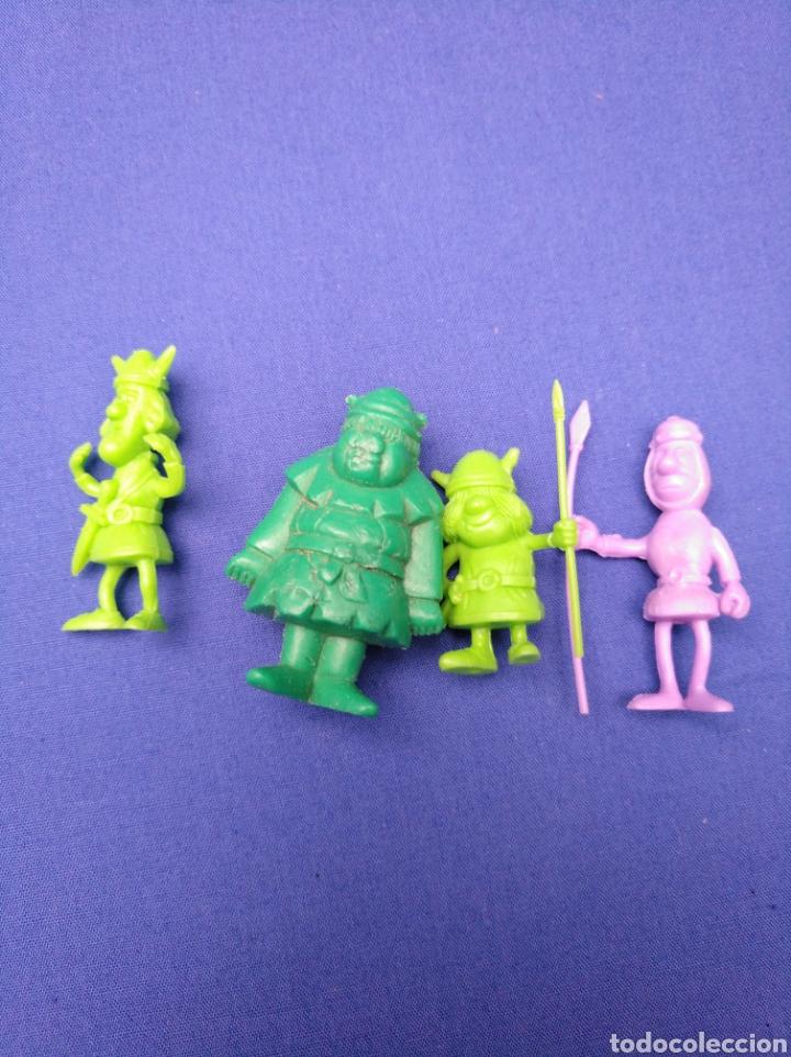Figuras de Goma y PVC: LOTE DE 15 FIGURAS DUNKIN , SERIE PORTUGUESA, DE VICKIE EL VIKINGO, AÑOS 70/80 - Foto 4 - 176073809