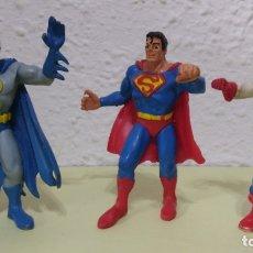 Figuras de Goma y PVC: TRES FIGURAS GOMA COMICS SPAIN, SUPERMAN, BATMAN, CAPITÁN AMÉRICA.. Lote 176082280