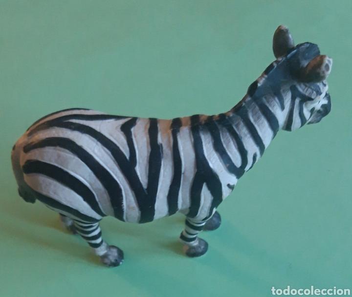 Figuras de Goma y PVC: Schleich zebra rayas negras y blancas - Foto 2 - 176083528