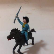 Figuras de Goma y PVC: SOLDADO A CABALLO YANKEE NORDISTA PLASTICO. Lote 176111139