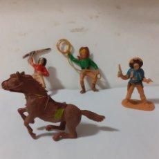 Figuras de Goma y PVC: FIGURAS VAQUEROS JECSAN,REAMSA,PECH,PLASTICO. Lote 176113283