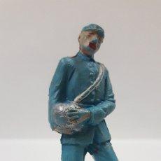 Figuras de Goma y PVC: ARTILLERO SERVIDOR DE CAÑON - SOLDADO FEDERAL YANKEE . REALIZADO POR PECH . AÑOS 60. Lote 176195905