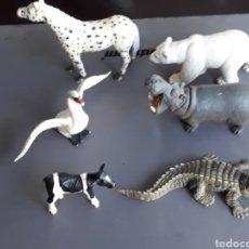 Figuras de Goma y PVC: LOTE FIGURAS ANIMALES SCHLEICH. Lote 176272468