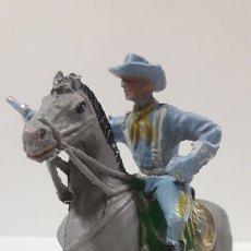 Figuras de Goma y PVC: SOLDADO FEDERAL YANKEE A CABALLO . REALIZADO POR PECH . AÑOS 60. Lote 176279700