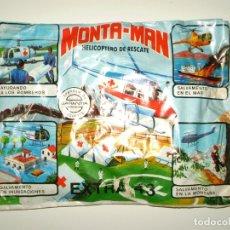 Figuras de Goma y PVC: SOBRE MONTAPLEX EXTRA Nº 43 MONTAMAN HELICÓPTERO DE RESCATE - SOBRE CERRADO. Lote 244989530