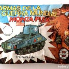 Figuras de Goma y PVC: SOBRE MONTAPLEX Nº 419 TANQUE SHERMAN USA - SOBRE CERRADO. Lote 226125438