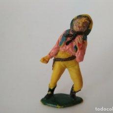 Figuras de Goma y PVC: FIGURA VAQUERO GOMA TEIXIDO. Lote 176306308