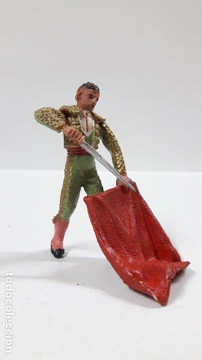 TORERO . REALIZADO POR TEIXIDO . AÑOS 60 (Juguetes - Figuras de Goma y Pvc - Teixido)