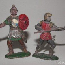 Figuras de Goma y PVC: REAMSA DOS FIGURAS Nº 116 Y 169 - ROMANO - MEDIEVAL - AÑOS 60 DE LAS PRIMERAS. Lote 176414573