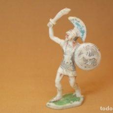 Figuras de Goma y PVC: FIGURA ROMANOS CONTRA CARTAGINESES, BATALLAS DEL MUNDO, METAURO, PLÁSTICO, ROJAS Y MALARET, AÑOS 60.. Lote 176436832