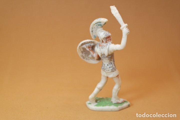 Figuras de Goma y PVC: Figura Romanos contra Cartagineses, Batallas del Mundo, Metauro, plástico, Rojas y Malaret, años 60. - Foto 3 - 176436832