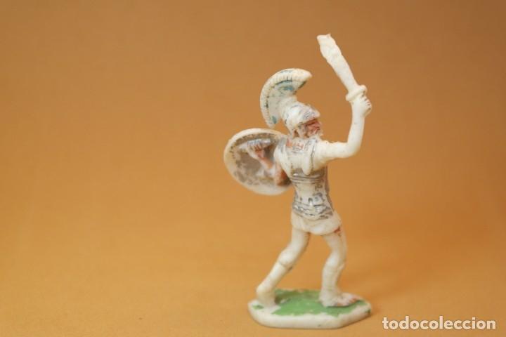 Figuras de Goma y PVC: Figura Romanos contra Cartagineses, Batallas del Mundo, Metauro, plástico, Rojas y Malaret, años 60. - Foto 4 - 176436832