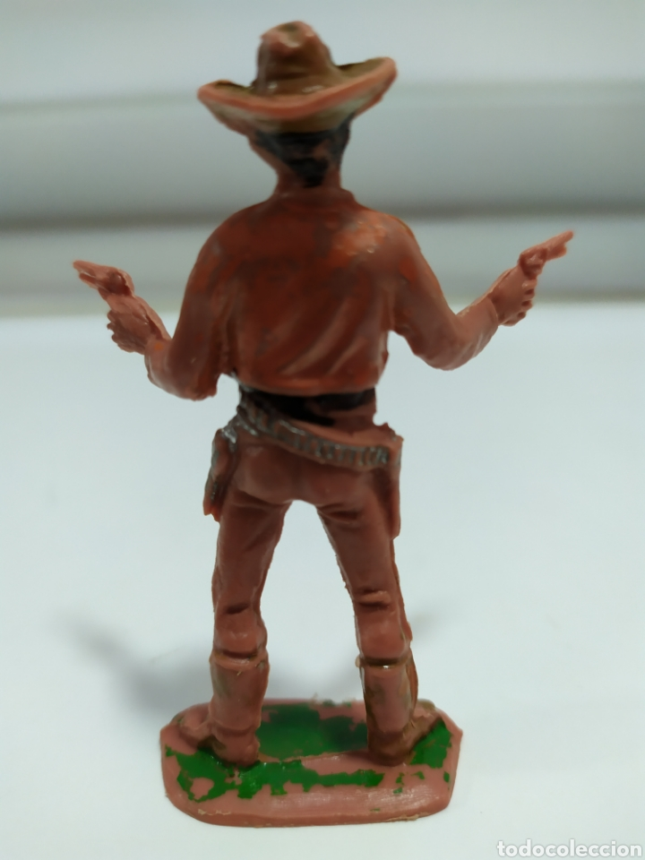 Figuras de Goma y PVC: FIGURA PLASTICO DEL OESTE, COWBOY , SHERIFF COMANSI , 1º EPOCA, AÑOS 70 - Foto 3 - 176442260