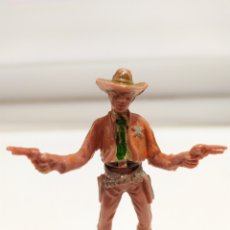 Figuras de Goma y PVC: FIGURA PLASTICO DEL OESTE, COWBOY , SHERIFF COMANSI , 1º EPOCA, AÑOS 70. Lote 176442260