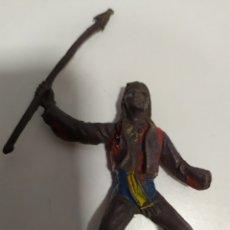 Figuras de Goma y PVC: ANTIGUO A CABALLO INDIO COMANSI O JECSAN, AÑOS 70 ,. Lote 176444533