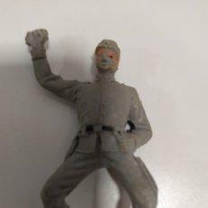Figuras de Goma y PVC: JECSAN SERIE DOS BANDERAS SOLDADO CONFEDERADO O SUDISTA A CABALLO DE PLASTICO AÑOS 60 70. Lote 176444610