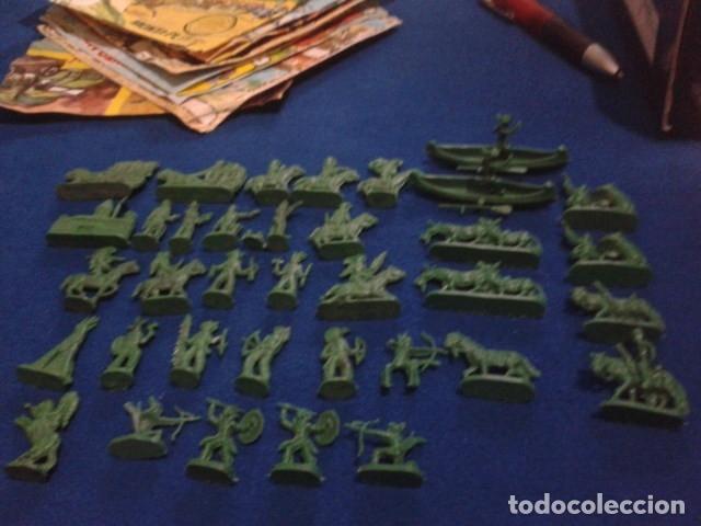 Figuras de Goma y PVC: LOTE MONTAPLEX ( 39 FIGURAS INDIOS Y VAQUEROS ) - Foto 4 - 176458204