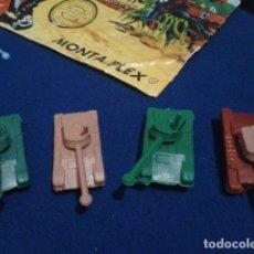 Figuras de Goma y PVC: LOTE MONTAPLEX ( 4 TANQUES + SOBRE ). Lote 176459143