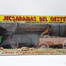 Figuras de Goma y PVC: CARRETA DE CARGA . JECSARAMAS DEL OESTE - REF 328 . REALIZADA POR JECSAN . AÑOS 60 / 70. Lote 176492217