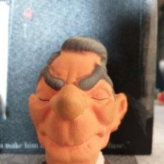 Figuras de Goma y PVC: ANTIGUO BUSTO GOMA ESPUMA RONALD REAGAN SERIE SPITTING IMAGE VINTAGE AÑOS 80 RARO!!!!. Lote 176585934