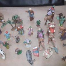 Figuras de Goma y PVC: GRAN LOTE ANTIGUAS FIGURAS BELÉN CREO PECH OLIVER. Lote 176588572