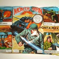 Figuras de Goma y PVC: SOBRE MONTAPLEX EXTRA Nº 4 MONTAMAN BAZOOKA - SOBRE CERRADO. Lote 194723116