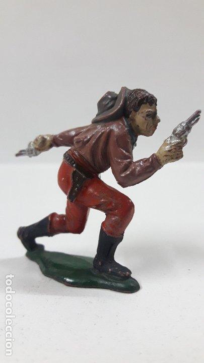 Figuras de Goma y PVC: VAQUERO - COWBOY . REALIZADO POR TEIXIDO . AÑOS 50 EN GOMA - Foto 2 - 176679312