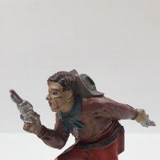 Figuras de Goma y PVC: VAQUERO - COWBOY . REALIZADO POR TEIXIDO . AÑOS 50 EN GOMA. Lote 176679312