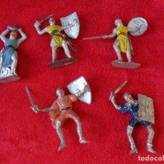 Figuras de Goma y PVC: REAMSA 5 FIGURAS DE PVC MEDIEVALES CRISTIANOS JECSAN. Lote 176689377