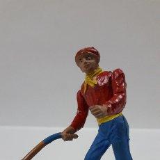 Figuras de Goma y PVC: MONOSABIO CON BARA . REALIZADO POR TEIXIDO . AÑOS 60. Lote 176729420