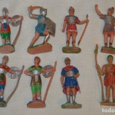 Figuras de Goma y PVC: 8 FIGURAS ROMANOS / GLADIADOR - COMANSI, OLIVER, PUIG, PECH, JECSAN..... AÑOS 60 ¡MIRA FOTOS !. Lote 176813215