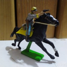 Figuras de Goma y PVC: SOLDADO SUDISTA BRITAIN'S DEETAIL CIVIL WAR JINETE A CABALLO CONFEDERADO. Lote 176880344