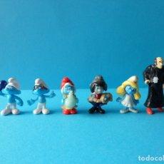 Figuras Kinder: VARIADO LOTE DE PITUFOS KINDER SORPRESA - PEYO - PITUFINA, GARGAMEL, FORTACHON Y OTROS. Lote 176907178