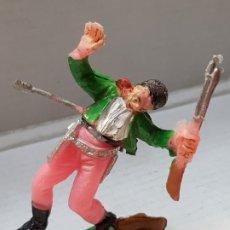 Figuras de Goma y PVC: FIGURA COMANSI-COWBOY CON FLECHA- DIFICILISIMO . Lote 176914648