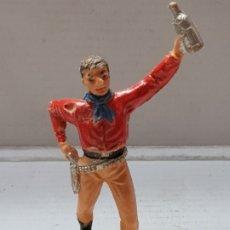 Figuras de Goma y PVC: FIGURA COMANSI-COWBOY CON BOTELLA-ESCASO . Lote 176915035