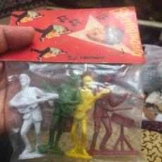 Figuras de Goma y PVC: THE BEATLES-FIGURAS BEATLES BEATLEMANIA TOY PLASTIC AÑOS 60. Lote 176918980