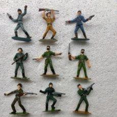 Figuras de Goma y PVC: SOLDADOS DEL MUNDO. COMANSI. AÑOS 70. LOTE DE 11 PIEZAS. Lote 176970987