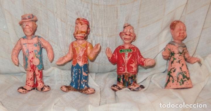 4 PAYASOS DE ESTEREOPLAST,HERTA FRANKEL,AÑOS 60 (Juguetes - Figuras de Goma y Pvc - Estereoplast)