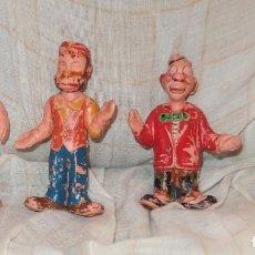 Figuras de Goma y PVC: 4 PAYASOS DE ESTEREOPLAST,HERTA FRANKEL,AÑOS 60. Lote 177024993