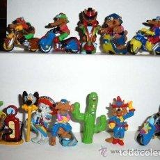 Figuras Kinder: COLECCIÓN COMPLETA FIGURAS HUEVOS KINDER SORPRESA, MOTOCOYOTES AÑO 2003.. Lote 177297925