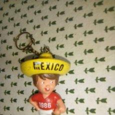 Figuras de Goma y PVC: FIGURA DE GOMA MUNDIAL MÉXICO 1986 CON LLAVERO SPORT BILLY?. Lote 177377767