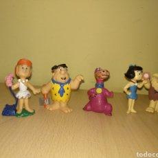 Figuras de Goma y PVC: LOTE LOS PICAPIEDRAS WILMA PABLO MARMOL DINO HANNA BARBERA PVC AÑOS 80 BULLY. Lote 102351835