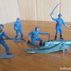 Figuras de Goma y PVC: PECH HERMANOS: MUY DIFICIL LOTE DE 4 ARTILLEROS , PERTENECIENTE A LA CAJA 7ª DE CABALLERIA YANKI. Lote 177399503