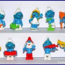 Figurines en Caoutchouc et PVC: PITUFOS KINDER SORPRESA, COLECCION COMPLETA CON 10 FIGURAS 1996.. Lote 177402067