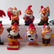 Figuras Kinder: COLECCION COMPLETA GNOMOS, COLECCION COMPLETA ENANOS EN EL BAÑO, GNOMES, DWARFS IN THE BATHROOM, AÑO. Lote 177402637